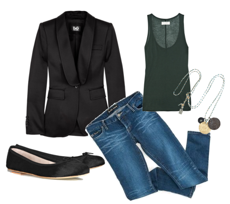 how to wear a black blazer casually