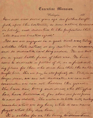 On this date, November 19th, 1863, President Abraham Lincoln delivered 267 words, 9 sentences long in less than 3 minutes. This speech would become one of the most famous speeches in American history