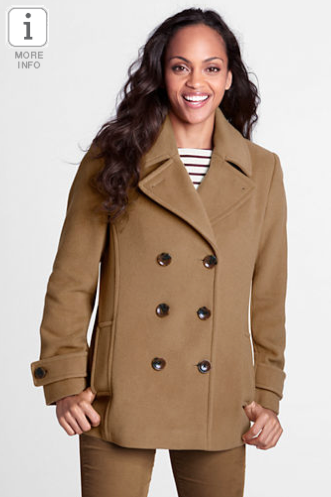 Fashion Deal of the Day: Lands' End Women's Regular Luxe Wool Pea ...