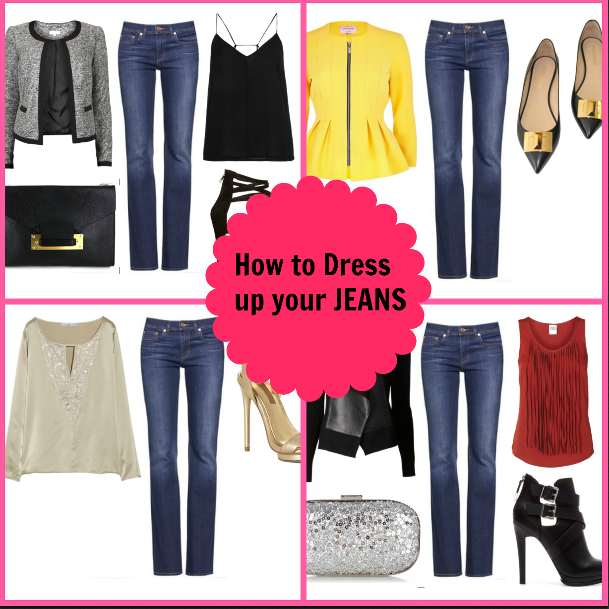 how to dress up jeans for work