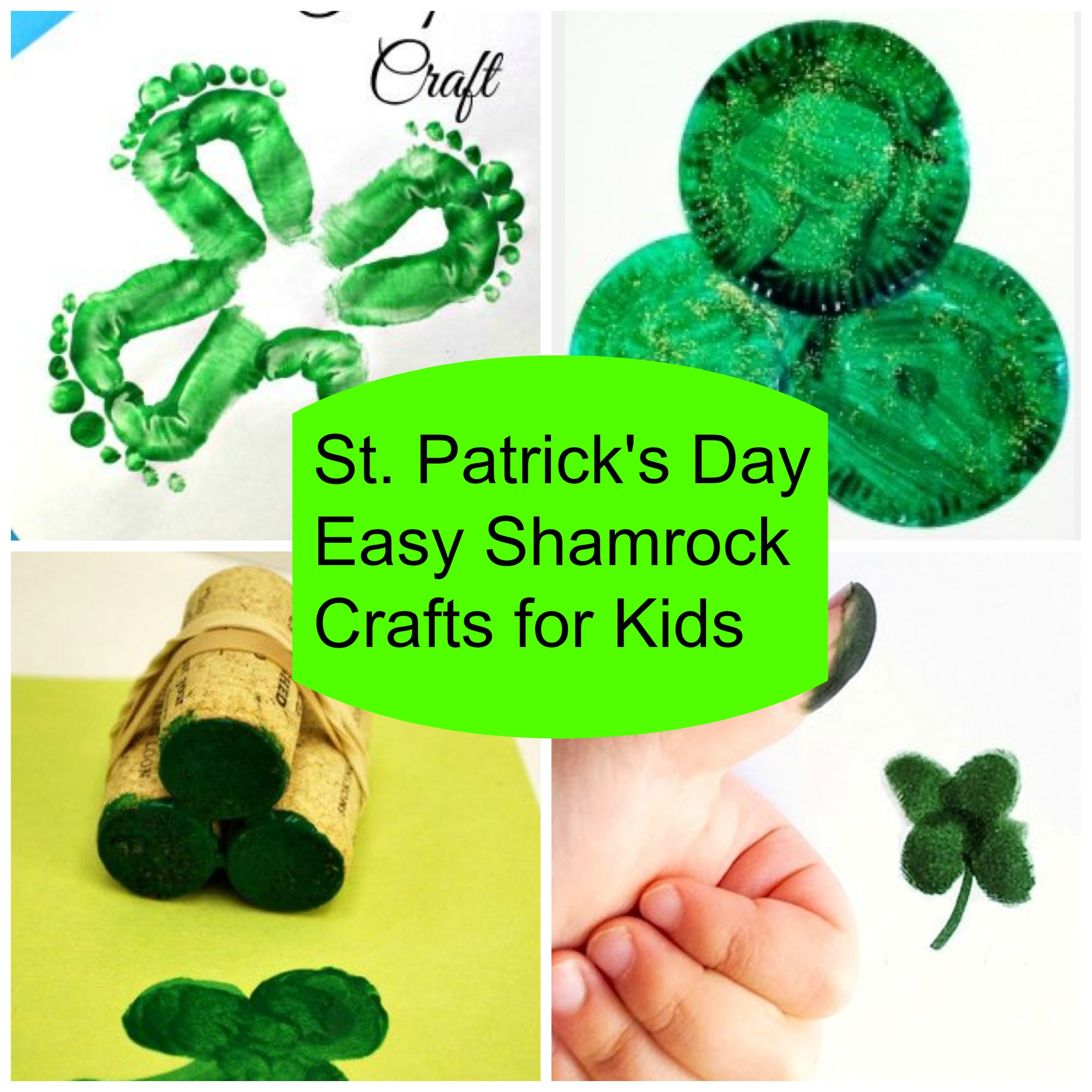 St pattys day crafts - 5 Easy Shamrock St Patrick S Day Crafts For Kids