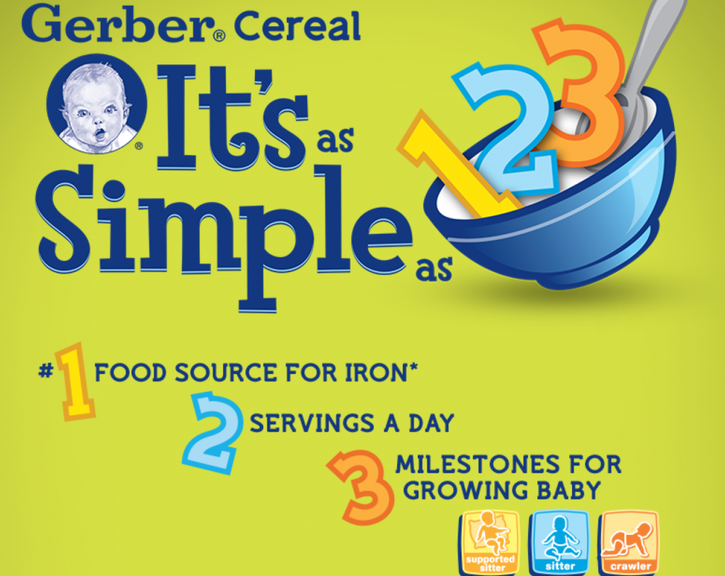 """Cereal 1-2-3"" sweepstakes presented by Gerber"