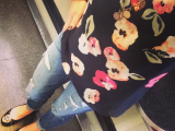 Monday Style: Florals, Denim and Tory