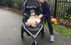 Running with 3 things – my Grandson, his BOB Stroller and Joy!