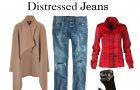 What to Wear with Distressed Jeans #FashionFriday
