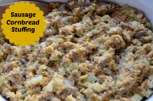 Thanksgiving Recipes: Sausage Cornbread Stuffing - Stylish Life for ...
