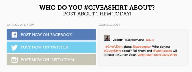 Van Heusen #GiveAShirt