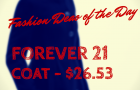 Fashion Deal of the Day: Forever 21 Funnel Coat – $26.53!!