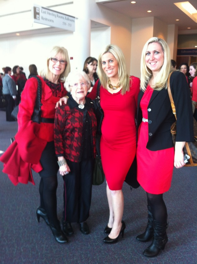 (l-r) Me, my Mom, Audrey, Jane representing Mom Generations at an event