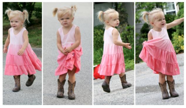 98% Angel Toddler Dress