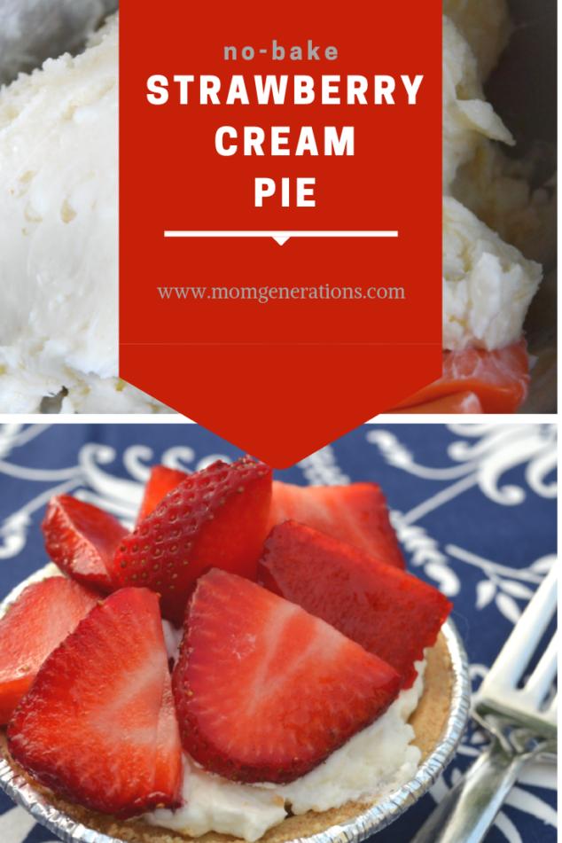 Strawberry Cream Pie No Bake