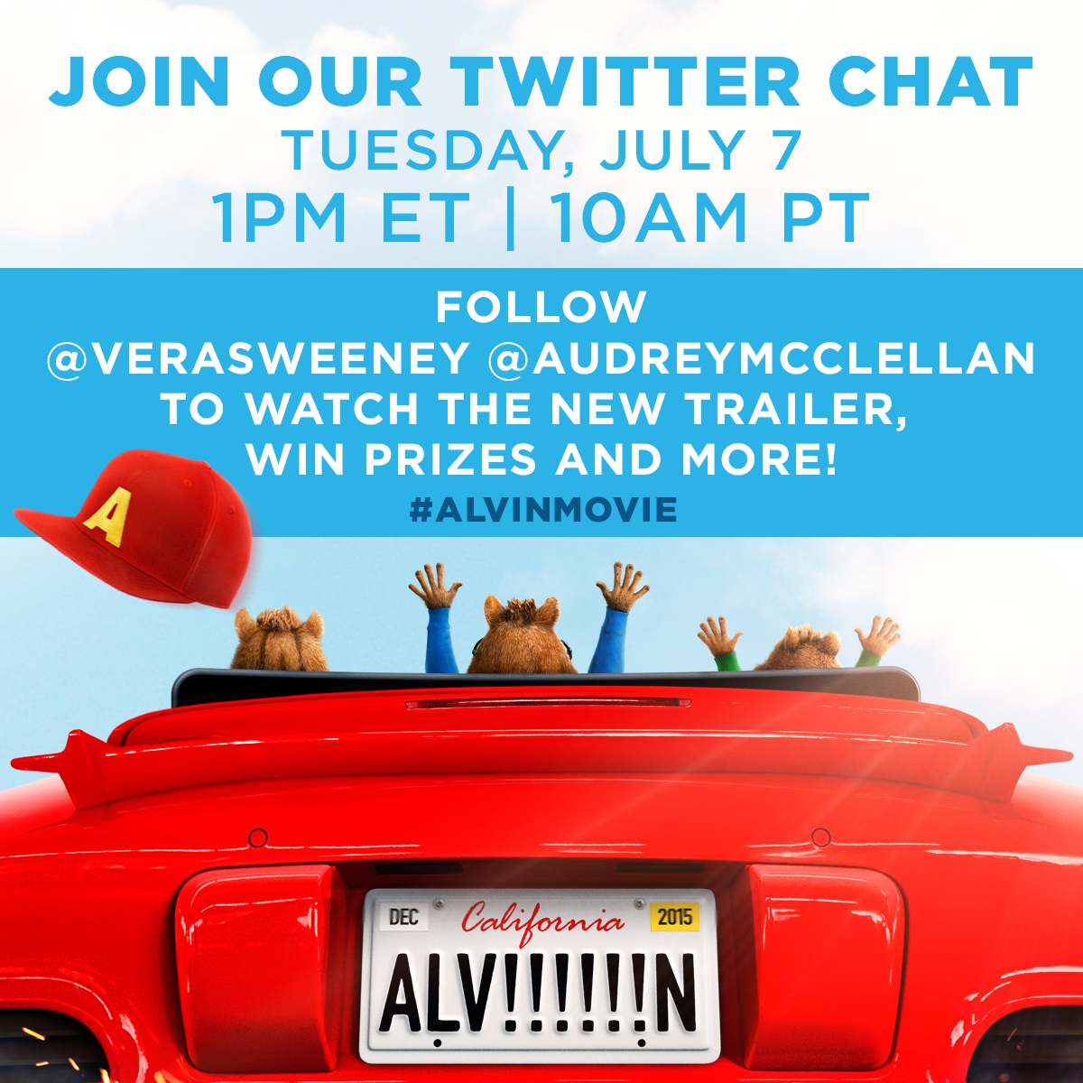 twitter party alvin and the chipmunks road trip