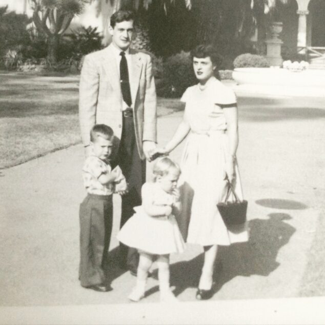 Dad, Mom, older brother and me - 1954