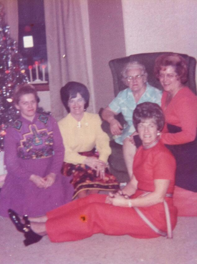 Back: Ruth, Joan, Nana, Jean Front: Rita - 1968