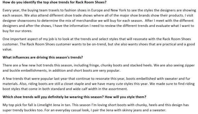 Trends for Boots