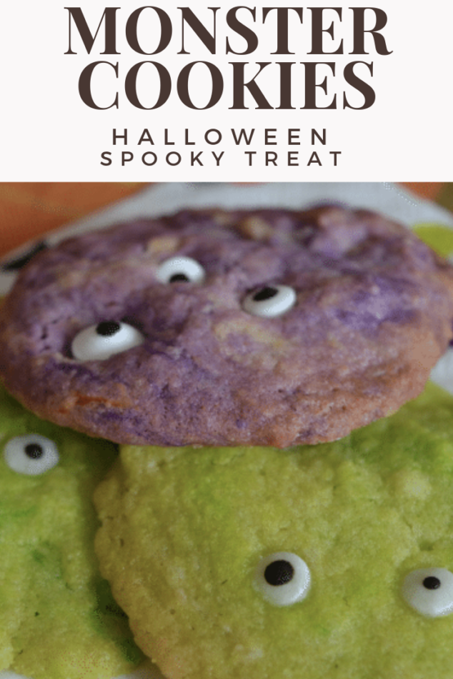 Halloween Spooky Treat - Monster Cookies