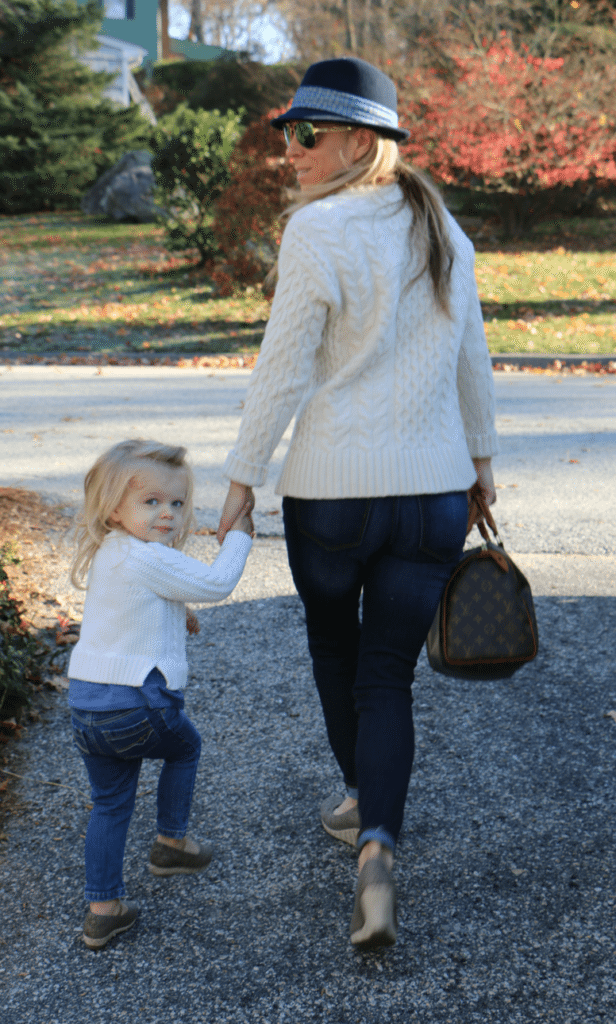 mother and daughter in mommy and me shoes