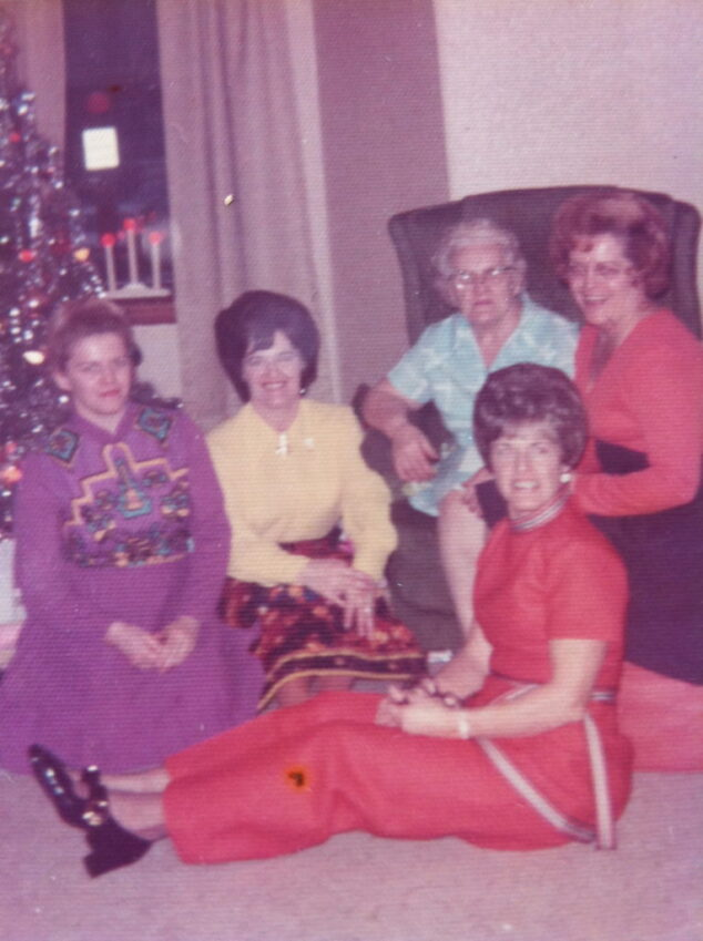 My Mom with her 3 sisters and her Mom, my Nana