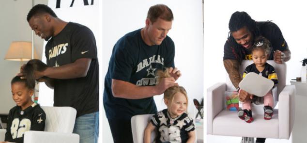 Football players do girls hair