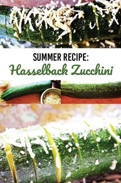 Hasselback Zucchini - Summer Recipe