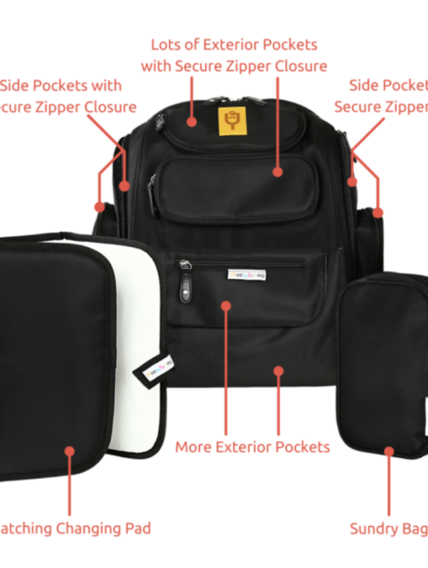 Jesse Diaper Backpack From Cheeky Tummy