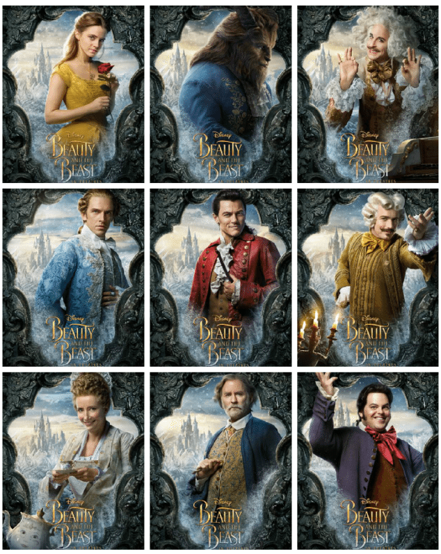 Im Excited To Share That I Just Got A First Look At The Character Posters For BEAUTY AND THE BEAST And They Are Incredible