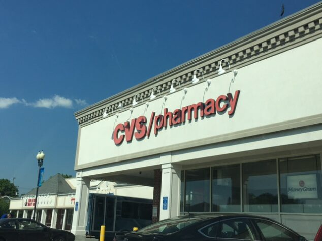 Pulling in to get my items with CVS curbside pickup.