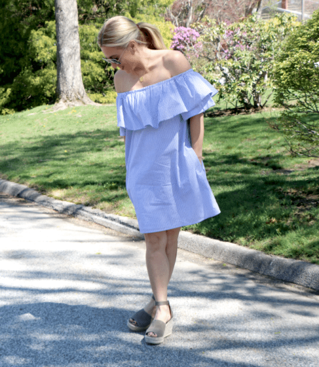 Off the shouler dress for spring