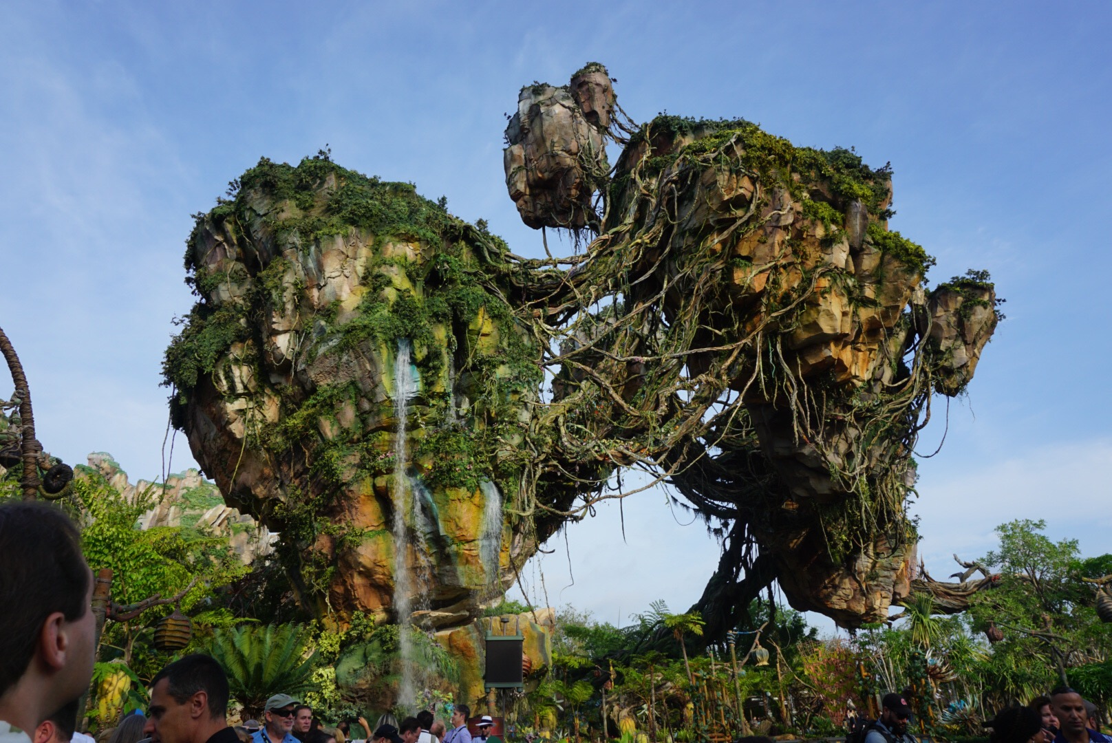 The floating islands at Pandora: The World of Avatar were amazing. Look at that waterfall!