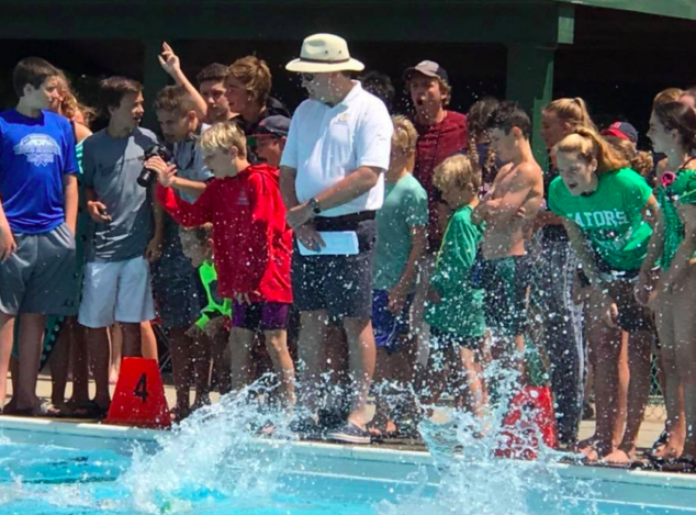 All the kids enjoyed being on a summer swim team.