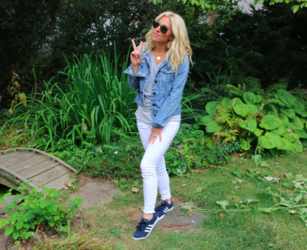 Sneakers, denim, and shades - what could be better?