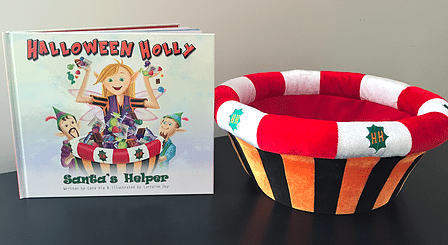 Halloween Holly is like Elf on the Shelf for Halloween, and we love it.