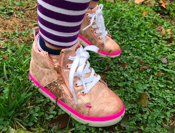I love the attention to detail on her Step & Stride high tops.