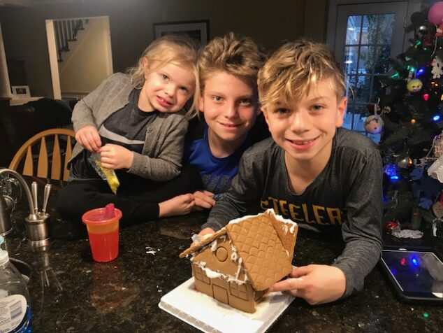 Our Despicable Me 3 gingerbread house. Well, it's all about family, really...