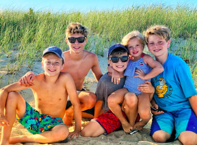 Family Beach Trup with Teenagers