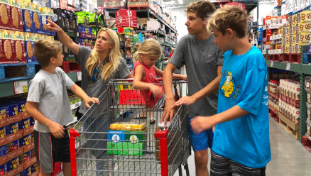 Shopping at BJ's Wholesale CLub