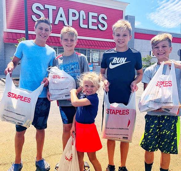 Staples Back to School Shopping
