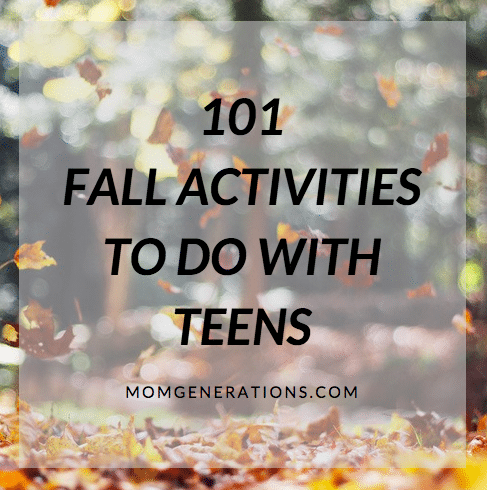 101 Fall Activities to Do with Teens