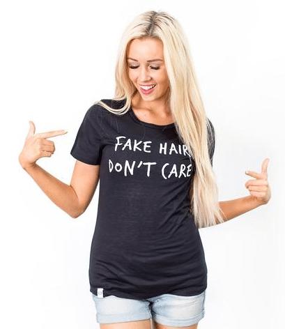 Fake Hair Don't Care Graphic T-Shirt