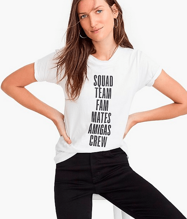 J.Crew Graphic Crew Tee for your Best Friend
