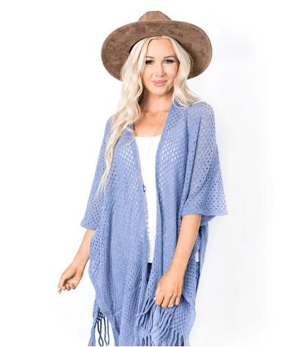 Jamie Open Knit Kimono