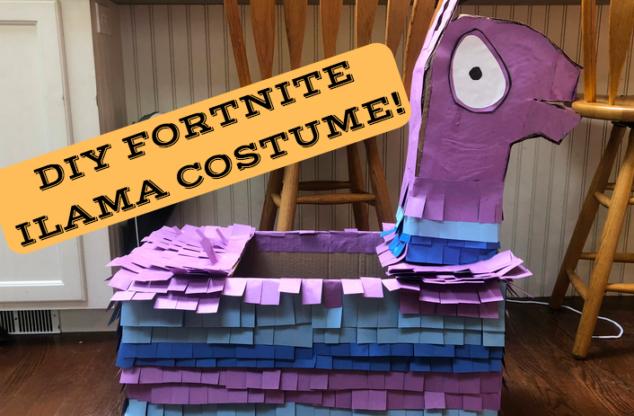 DIY Fortnite Ilama Halloween Costume
