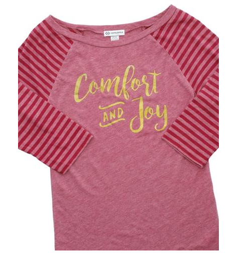 Comfort and Joy Holiday Tee