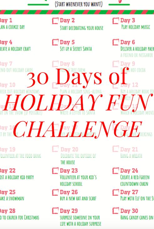 30 Days of Holiday Fun Challenge