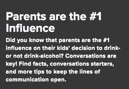 Ask, Listen, Learn - Talking to you Kids about underage drinking