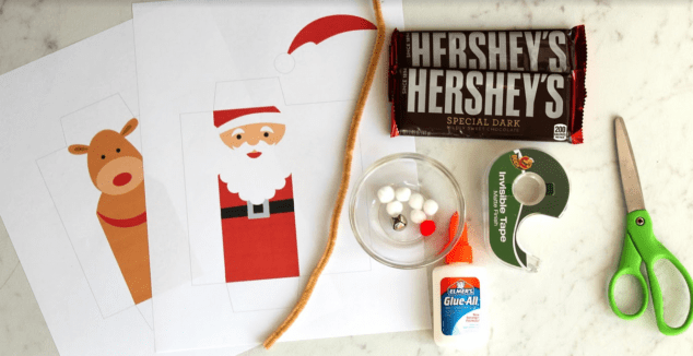 Christmas Candy Bar Wrappers Craft
