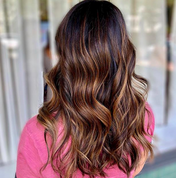 Warm and Toasty! Beautiful hue created by Morganne