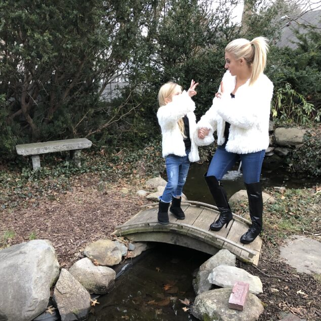 Mommy and Me Outfits: Twinning Faux Fur Jackets