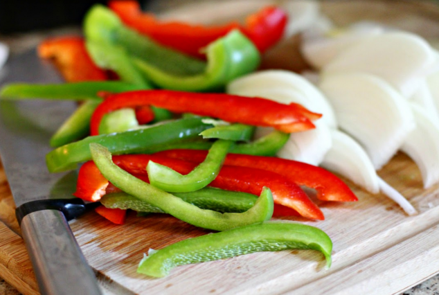 Easy Keto Recipes Veggies cut up in strips