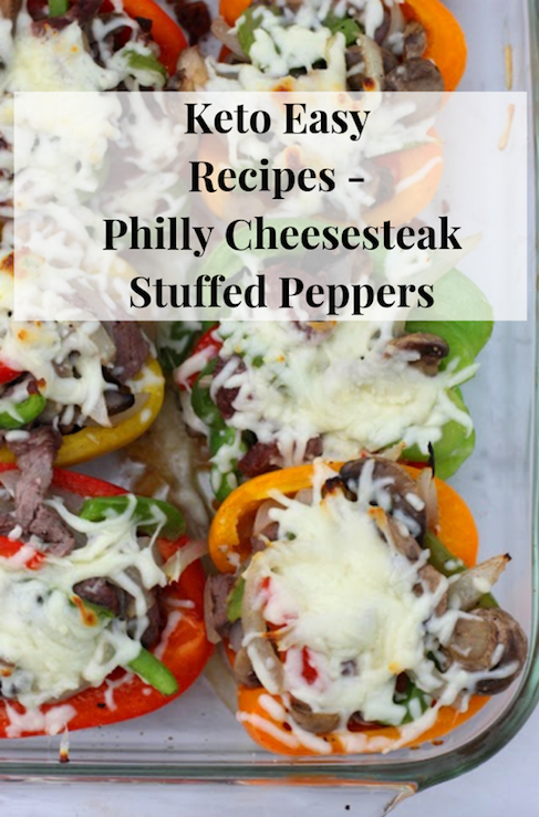 Keto Easy Recipes - Philly Cheesesteak Stuffed Peppers